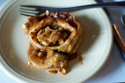 caramel nut bun 1