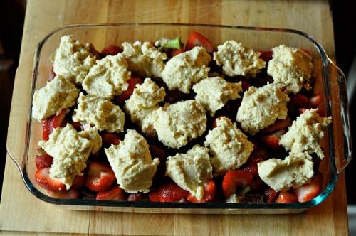 rhubarb cobbler 5