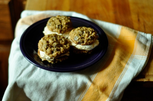 rolled oat cookies 1