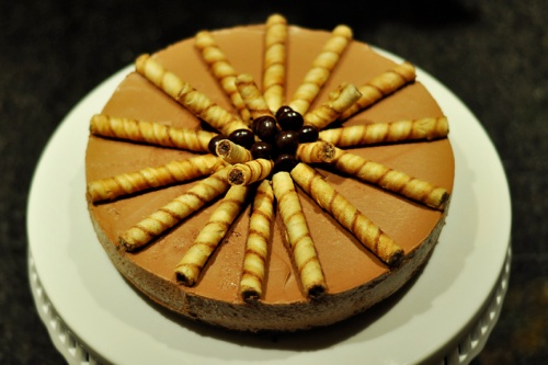 nutella mousse cake 1