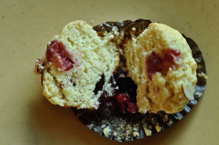 282 to be a hugger – cherry almond muffins a chocolate version